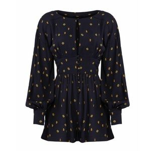 Free People Live Grows Long NWT Navy Romper